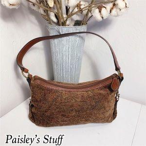 Vintage Fossil Paisley Tapestry Shoulder Bag